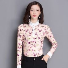 Women Shirts New Arrival Cotton Women Blouses Plus Size Real Spot 2016 Fall Blouses Korean Female Chiffon Shirt And Sleeved