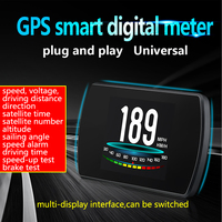 Universal GPS Speedometer HUD Head up Display On board Computer Car Digital Speedometer Voltage Overspeed Warning Tool