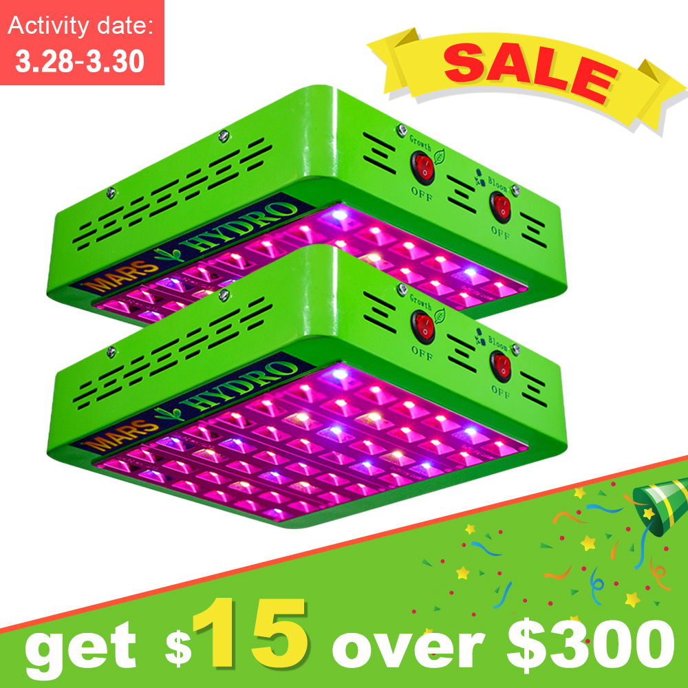 2PCS MarsHydro Reflector 240W LED Grow Light Lamp Full Spectrum Veg Bloom Lamp for Indoor Medicinal Plants 200w full spectrum led grow lights led lighting for hydroponic indoor medicinal plants growth and flowering grow tent