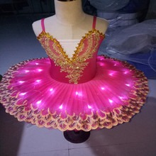 Children's Performing Tutu Dancing Dress Children's Light Ballet Tutu Fluorescent Swan Lake Luminescent Ballet Tutu Suit D-0321