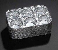 Chảo Muffin-Dùng Một Lần Aluminum Foil 6-Cup Cupcake Chảo, để Nướng Cupcakes, bánh nướng xốp và Mini Bánh Pack of 20