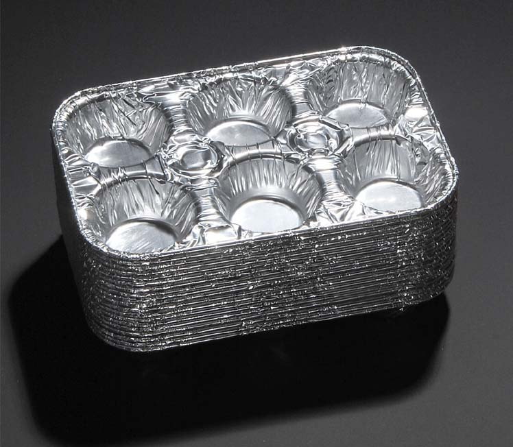 Muffin Pans Disposable Aluminum Foil 6 Cup Cupcake Pans