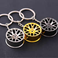 RE fashion metal car wheel keyring mens keychain couples boyfriend jewelry gifts key chain 4 colors bag car accessories J45