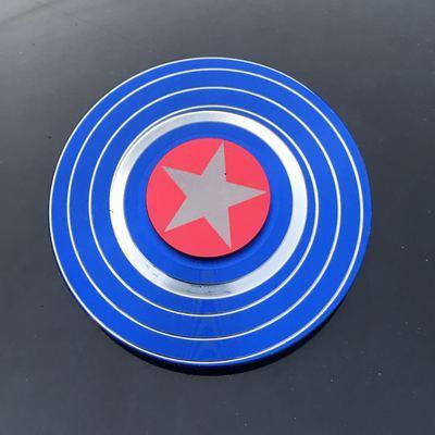 Спиннер-Спиннер Marvel Капитан Америка с двух сторон сплав Человек-паук ручной Спиннер декомпрессия для взрослых артефакт детская игрушка