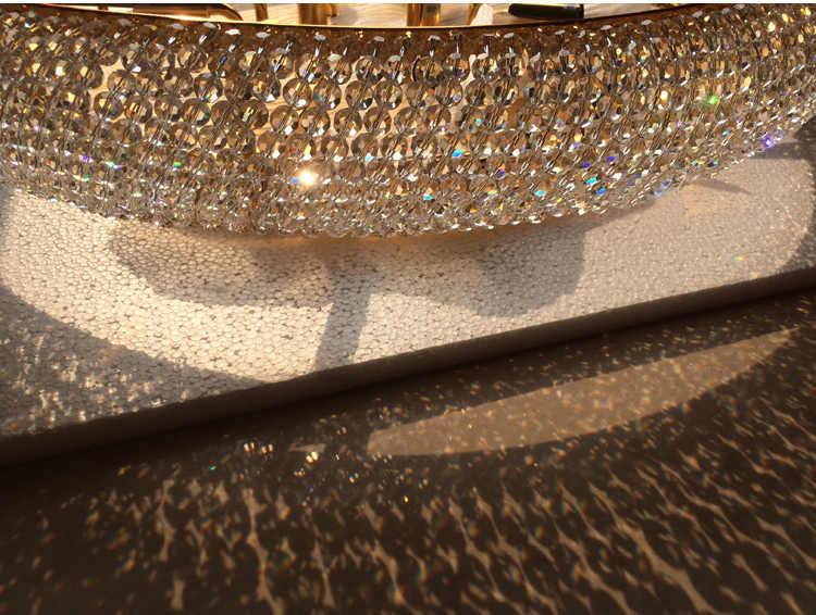 Phube แสง Empire GOLD โคมไฟเพดานคริสตัลหรูหรา K9 คริสตัลโคมไฟเพดาน Luster จัดส่งฟรี