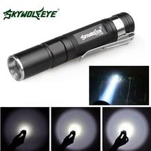 SKYWOLFEYE E522 Mini Penlight XPE LED Flashlight Zoomable Waterproof 3 Mode AAA Portable Pocket Pen Flash Light Torch Lamp