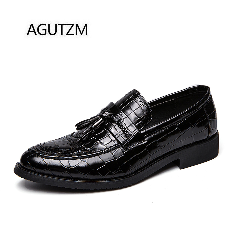 Motif Sur En Glands Chaussures Richelieu D'affaires Crocodile Hommes 05w6OqxpI
