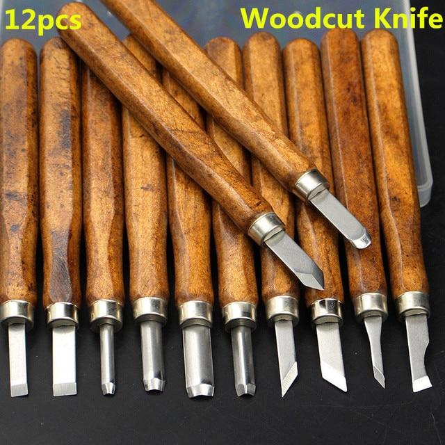 12 Pcs Multifunction Chisel Handmade Woodcut Knife
