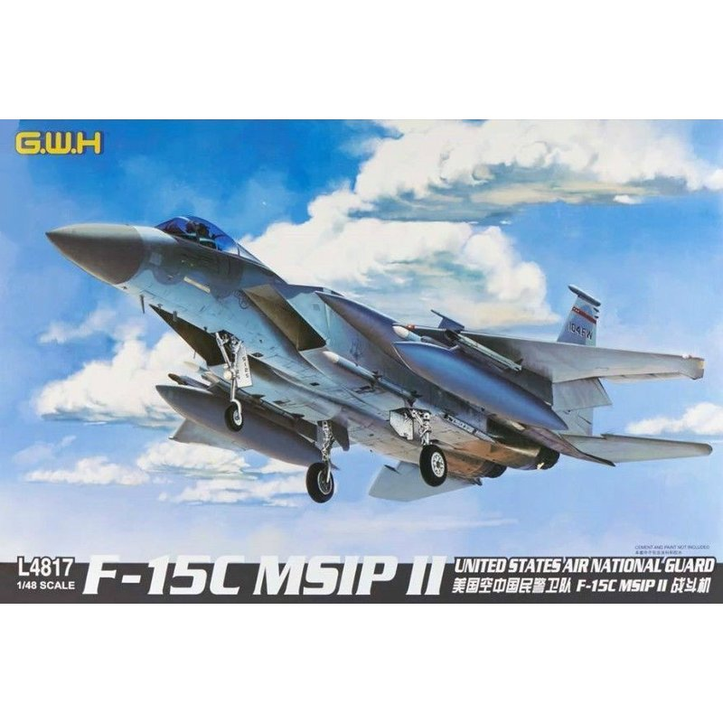 سور هواية L4817 1/48 F 15C MSIP II الولايات المتحدة الهواء الحرس الوطني مقياس أطقم منمذجة-في مجموعات البناء النموذجي من الألعاب والهوايات على  مجموعة 1
