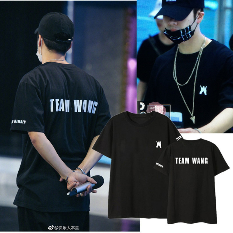 GOT7 Team Wang Happy Camp Same Style Joker Loose Tide Tshirt Top Summer MH469