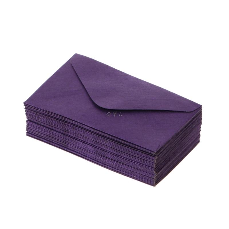 50Pcs Retro Blank Mini Paper Envelopes Wedding Party Invitation Greeting Cards Gift 5
