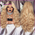 8A Ombre Blonde Full Lace Human Hair Wigs body wave Peruvin hair full lace wig Lace Front Human Hair Wig high quality soft hair