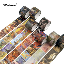 Creative Classical Famous Western Painting Decorative Adhesive Washi Tape Diy Scrapbooking Masking Tape School Office Supply