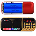 C-25 Может Использовать Два 18650 Батареи Портативный Цифровой Карманный Радио Стерео Mp3-плеер Спикер FM TF Micro SD Вход USB Sound Box