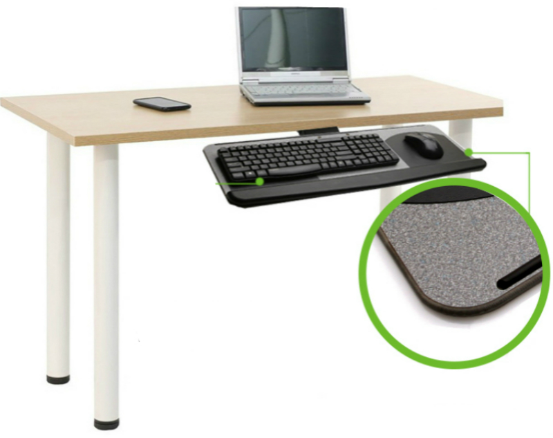 Creative Keyboard Stand Slide Type Hoisting Keyboard Tray Ergonomics Pull Type Adjustable Rotation Bracket Healthy Tillable Desk