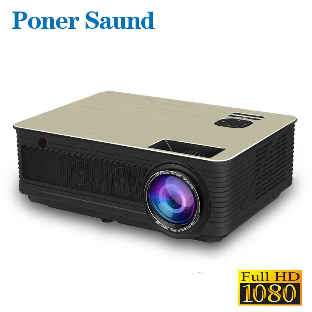 Poner Saund M5 LED Projector Full HD 1080P 3D Android 6.0 Projetor 4500 Lumens Projektor HDMI USB WiFi Proyector Bluetooth