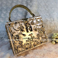 Luxury Designer Hard case Baroque Royal Handbag Runway Lady bag Purse with handle