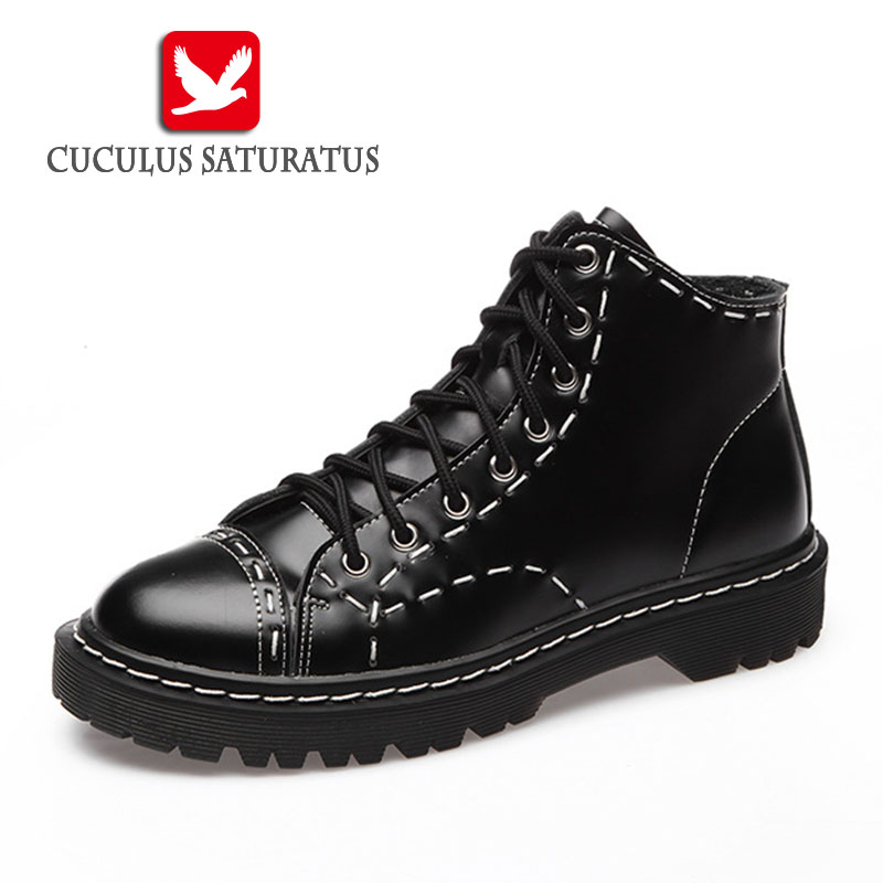 Cuculus New Women Ankle Boots Martin Shoes Style Autumn winter Leather Chelsa Boots For Women Casual Shoes Botas Mujer 1460-7 free shipping autumn winter genuine leather men s work ankle boots martin boots british style western cowboy boots for men botas