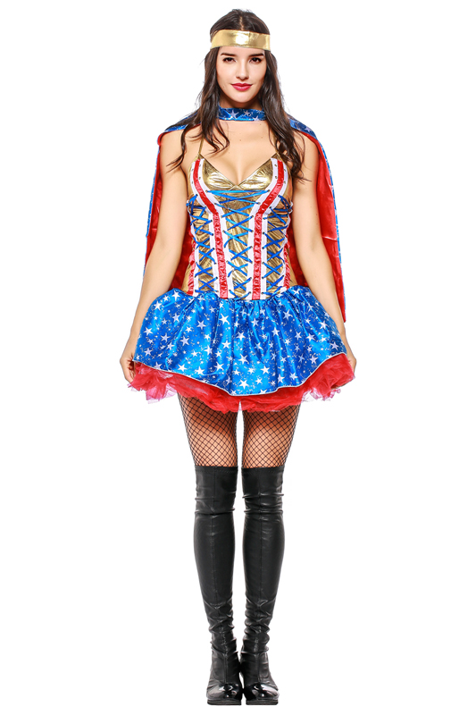 Hot Superman Women's Clothing Cosplay Vostume Dress Skirt For Woman High Quality