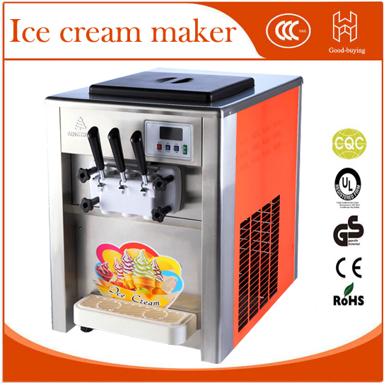 Freeshipping Ice cream maker Commercial Soft Ice cream machine 18L/H Sundae Ice cream machine Yogurt machine