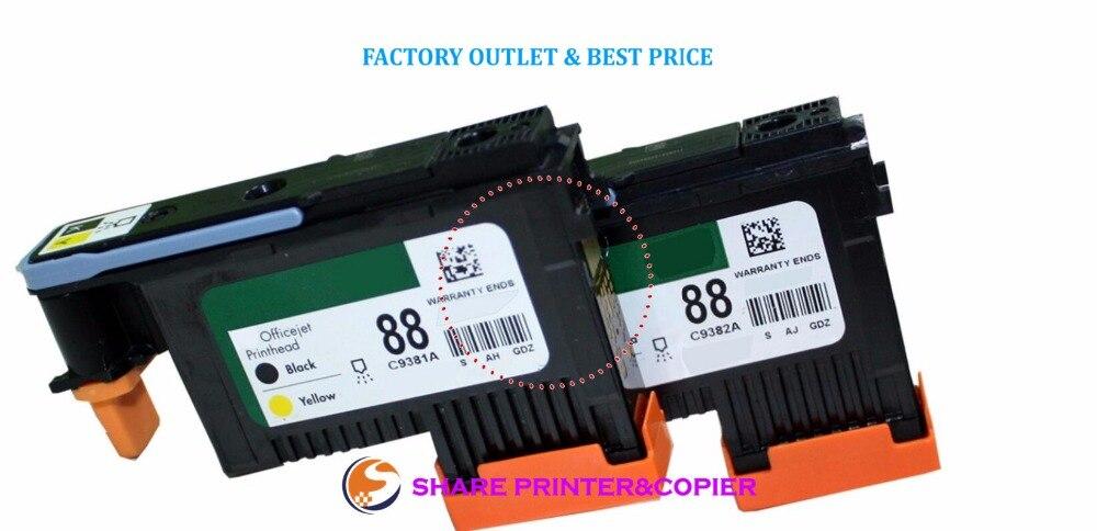 TEILEN 88A kopf C9381A C9382A Druckkopf für HP 88 K550 K5400 K8600 L7000 L7480 L7550 L7580 L7590 L7650 L7680 L7710 L7750