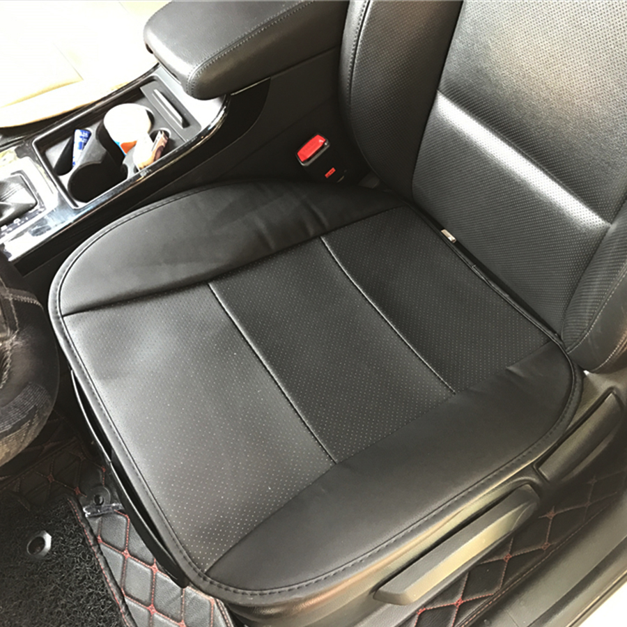 Image 5 - 1PC PU Leather Black Front Car Cover Seat Protector Cushion Black Automotive interior accessories-in Automobiles Seat Covers from Automobiles & Motorcycles
