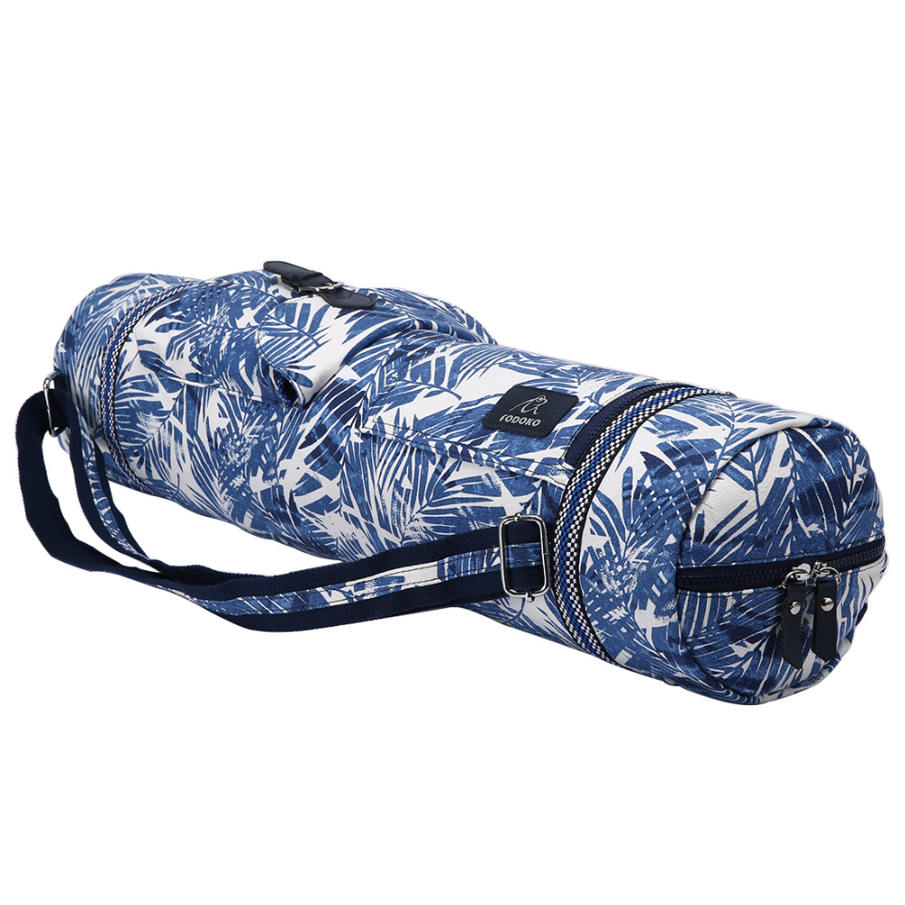 Jungle Yoga Mat Bag Waterproof Adjustable Drum Bag Sports Backpack Fitness Gym Shoulder Bag Women Girls Dance Pilates Pad Bags canvas elephant yoga mat bag large capacity gym bag sports handbag fitness dance gymnastics pilates athletes exercise mat bags