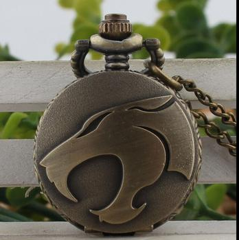 Game of thrones leopard Bronze Black cartoon face Necklace pocket watches