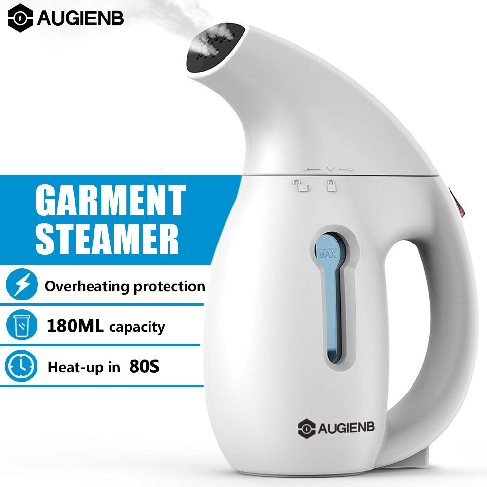 AUGIENB 800W 180ml Handheld Garment Steamer Portable Steam Iron Fast Heat AUTOMATIC POWER-OFF For Home Travel Cloth Wrinkle Use