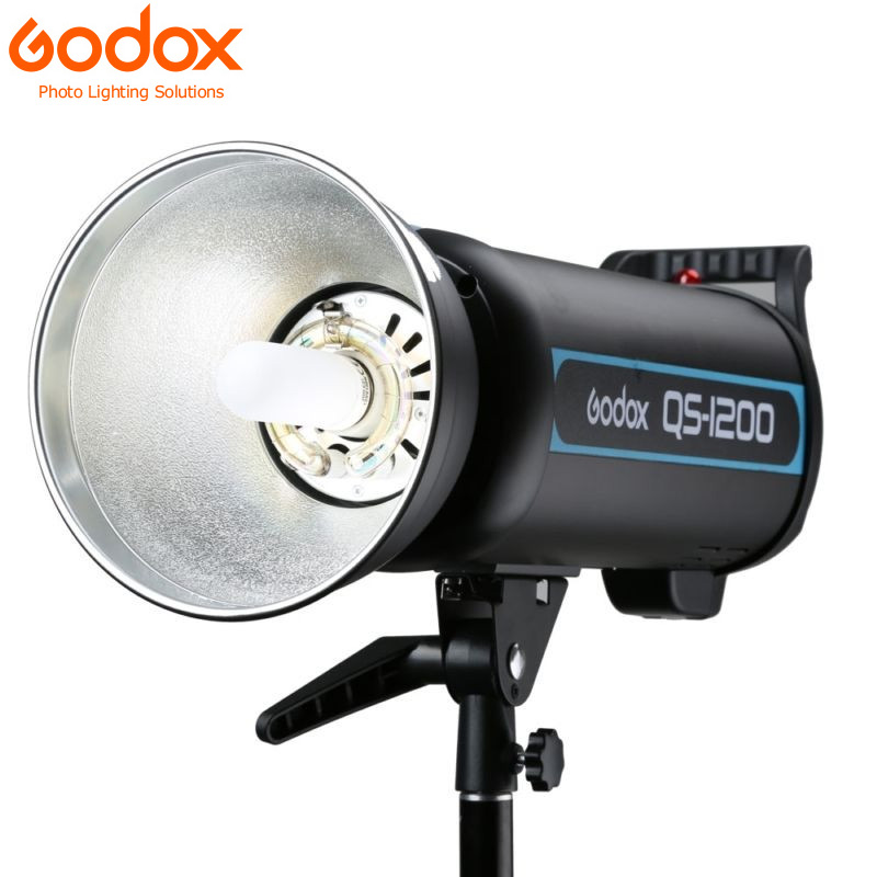 Godox QS1200 1200W 1200Ws Photo Studio Flash Strobe Light Lamp Godox Studio Flash Strobe godox mini studio flash strobe 160 max power 160ws universal digital mount gn43 recharging time 0 5 2s for photo accessories