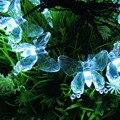 3 Colores (Blanco, Blanco cálido, RGB) 4.8 m/15.7FT 20 LED Solar Luces de Hadas de La Mariposa Iluminación Ambiental para Sala de Home Garden Decor
