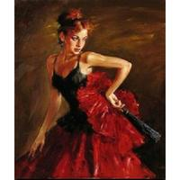 Beautiful oil painting of women Flamenco Dancer Woman Female artwork on canvas Hand painted wall decor