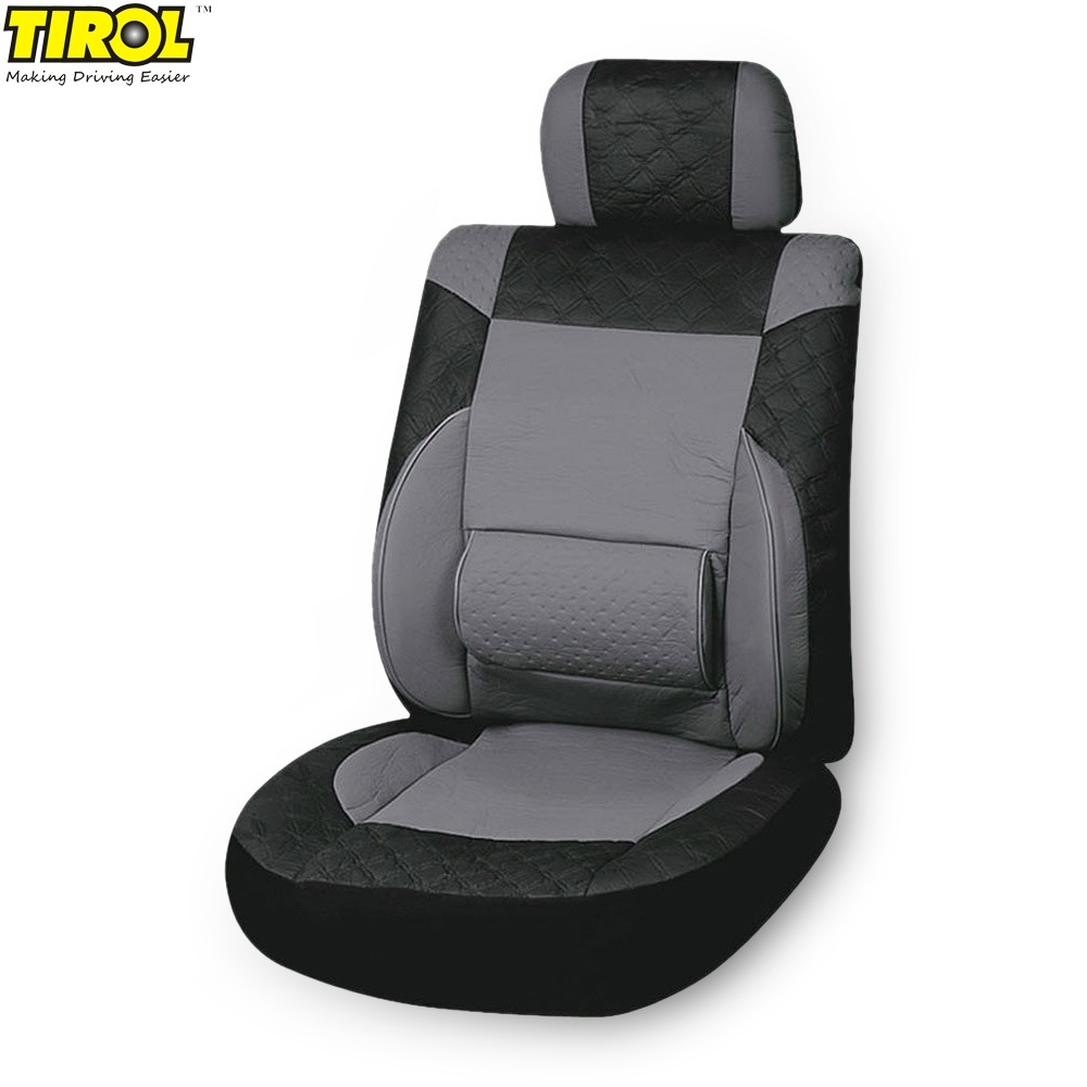 1pc original tirol universal car seat cover pu leather pvc seat protector car interior. Black Bedroom Furniture Sets. Home Design Ideas
