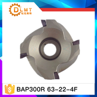 BAP300R 63 22 4T BAP300R 63 22 4T Right Angle Shoulder Face Mill Cutter 4pcs Inserts