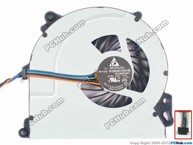 Delta KSB06105HB CJ1M 6033B0032801 720235-001 DC 5V 0.40A 4 wire Server Bare fan pz0 5 16 0 5 16mm2 crimping tool bootlace ferrule crimper and 1k 12 awg en4012 bare bootlace wire ferrules