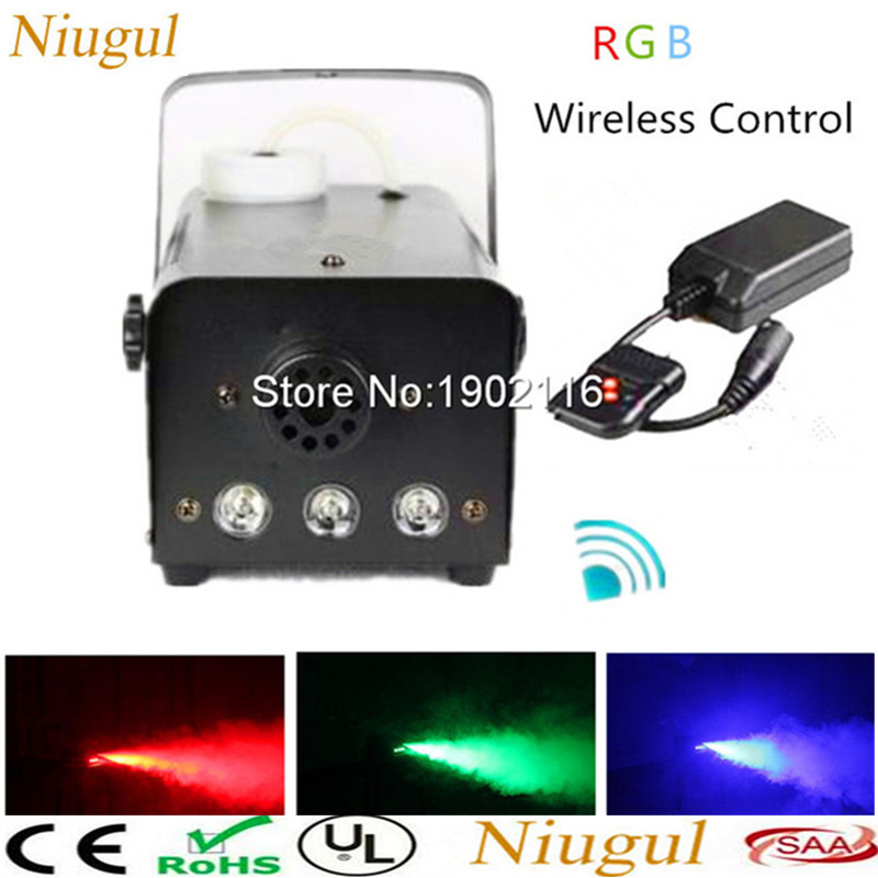 Niugul 500W fogger RGB Wireless remote control smoke machine pump dj disco fog machine party stage fogger machine Free shipping