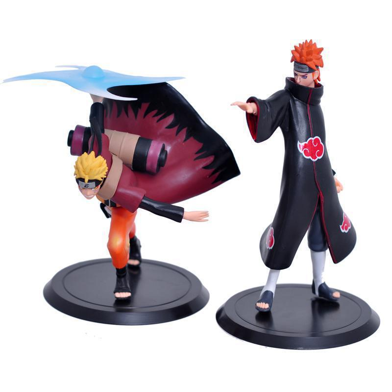 Naruto Figures Uzumaki & Pain PVC Action Figure Toys Doll Japan Anime Model Collection Free Shipping free shipping japanese anime naruto hatake kakashi pvc action figure model toys dolls 9 22cm 013