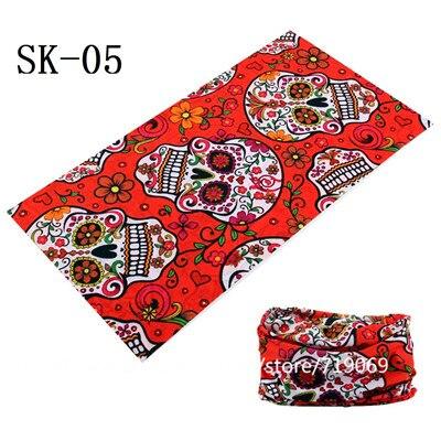 Multi-colored Skull Pattern Seamless Headscarf Bicycle Riding Turban Novelty Bandanas Magic Headband Veil Multi Scarf Scarves