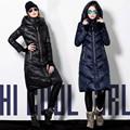 Chaquetas de invierno 2017 abajo cubre diseño largo femenino engrosamiento más tamaño duck down jacket women tamaño s-3xl envío gratis