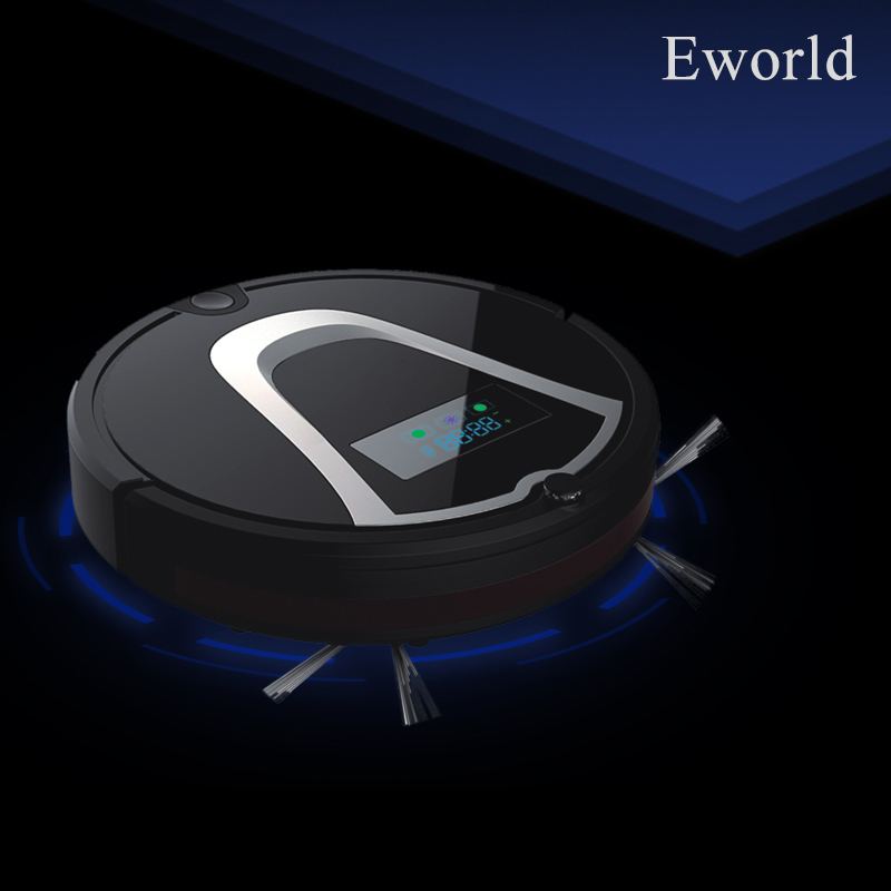 (Free to Europe) Eworld Robot Vacuum Cleaner robot aspirador Touch-Sensitive Sensor Self Charge Vacuum Robot Sweeper M884 Black free to europe eworld 2016 auto vacuum cleaners with robot vacuum cleaner mop with noise level less 50 db