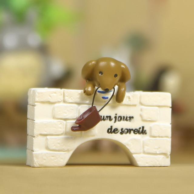 1 pcs Mignon Chien Chiot Figurines Dollhouse Mobilier Fée Jardim ...