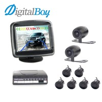 Digitalboy 3 5 Inch Car LCD Display Parking Sensors Assistance Reverse Backup Radar Monitor With 4