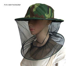 c54ec2adac207 New Mosquito Cap Midge Fly Bug Insect Bee Hat With Net Mesh Head Face  Protector Fishing Hat For Outdoor Camping Hiking Hunting
