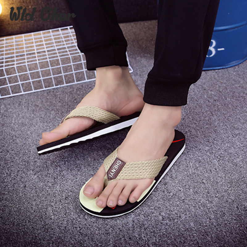 2017 New Fashion No Slip Man Summer Slipper Attractive High Quality Color Lump For Beach Outside Durable Striped Sandals