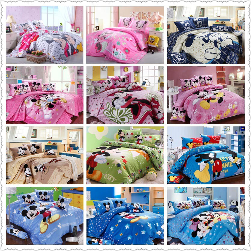 mickey minnie mouse bedding set Egyptian cotton bed linen for children home  textile twin full queen. Online Get Cheap Mickey Mouse Bedding Sets  Aliexpress com