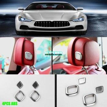 Zagłówek fotelika samochodowego przycisk regulacji poduszki listwa wykończeniowa do Maserati Ghibli 2014-2017 Levante 2016 2017 Quattroporte 2013-2017