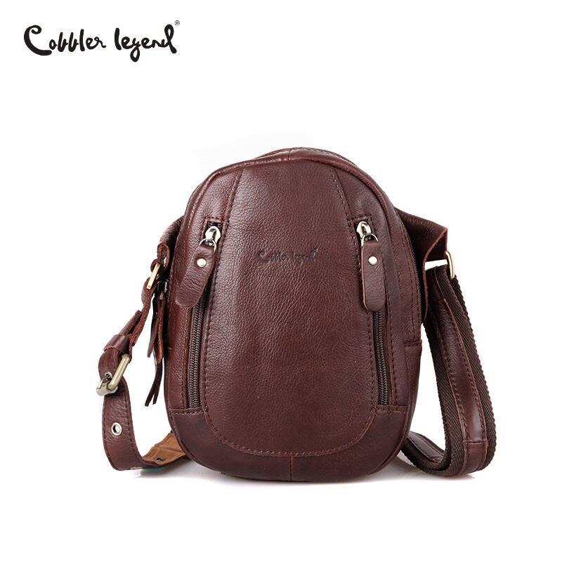 Cobbler Legend Men Messenger Bags Genuine Leather Men Small Bag Vintage Shoulder Bag Casual Travel Bag Business Handbag Bolsas