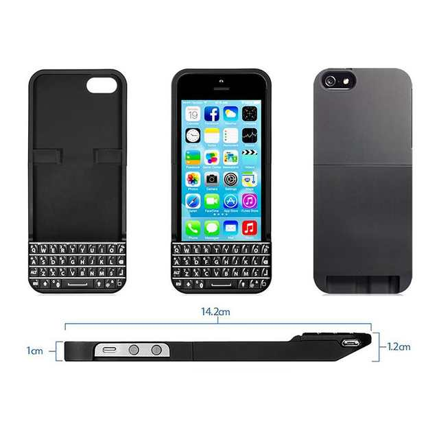 online retailer a75dc f27bc US $102.52 |Typo QWERTY Keyboard Case Bluetooth LED Universal Mini  Bluetooth 3.0 for IOS 6 or Above for iPhone 5 5S Black -in Mobile Phone  Keypads ...