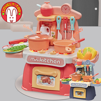 Kid's Kitchen Set Girls toys Miniature Food Cooking Toy Pretend Play Fast Food Fruits And Vegetables Dinette Child Toy