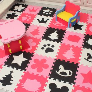 Children's soft developing crawling rugs,baby play puzzle number/letter/cartoon eva foam mat,pad floor for baby games(China)